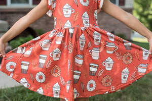 PUMPKIN SPICE TWIRL DRESS