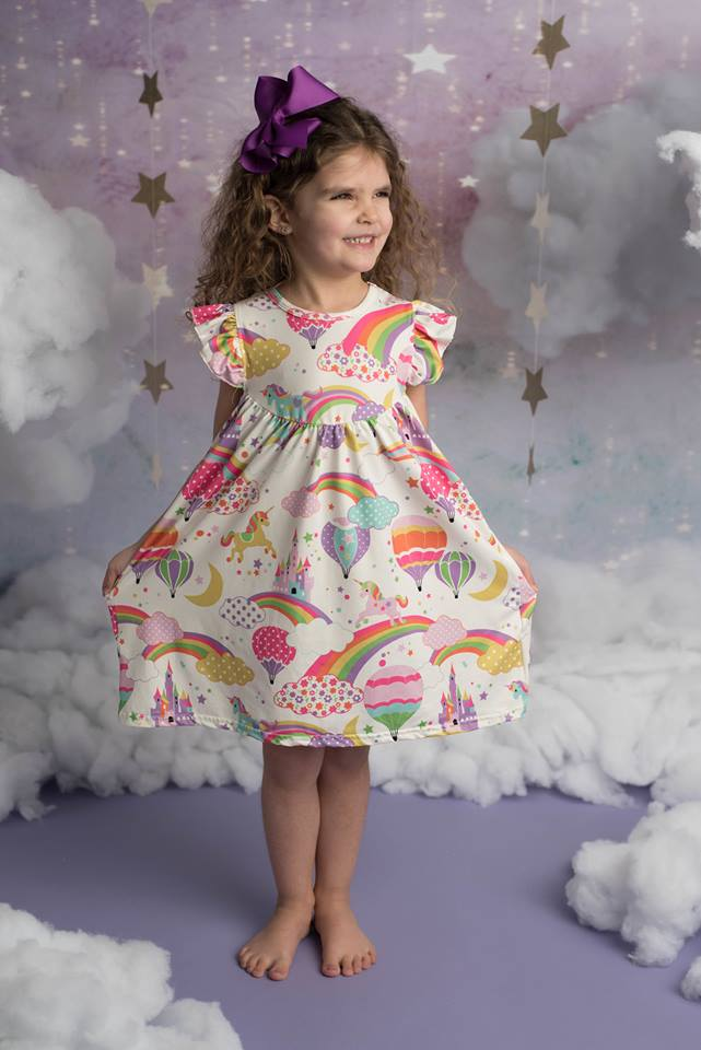 RAINBOW UNICORN PEARL DRESS