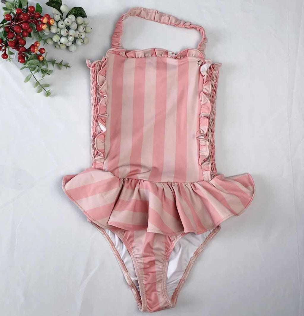 PINK STRIPES SWIMSUIT