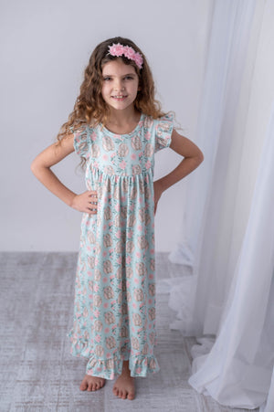 BUNNY MILK SILK NIGHTGOWN & DOLL NIGHTGOWN OPTION