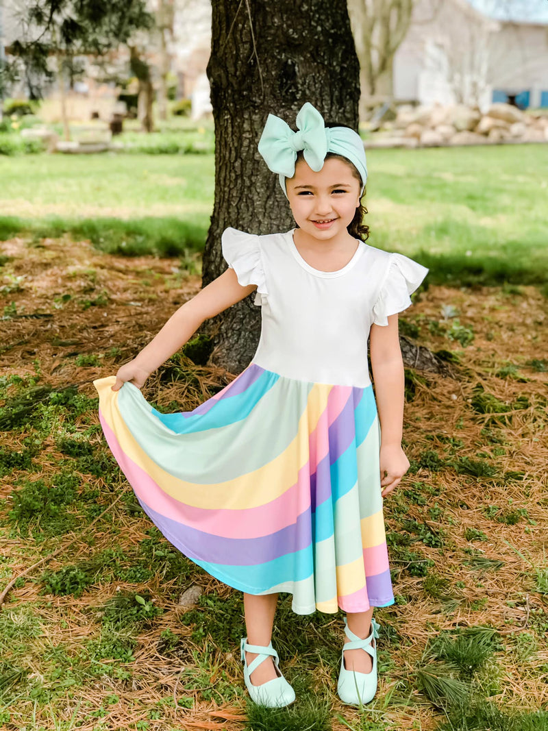 SAMANTHA RAINBOW TWIRLY DRESS