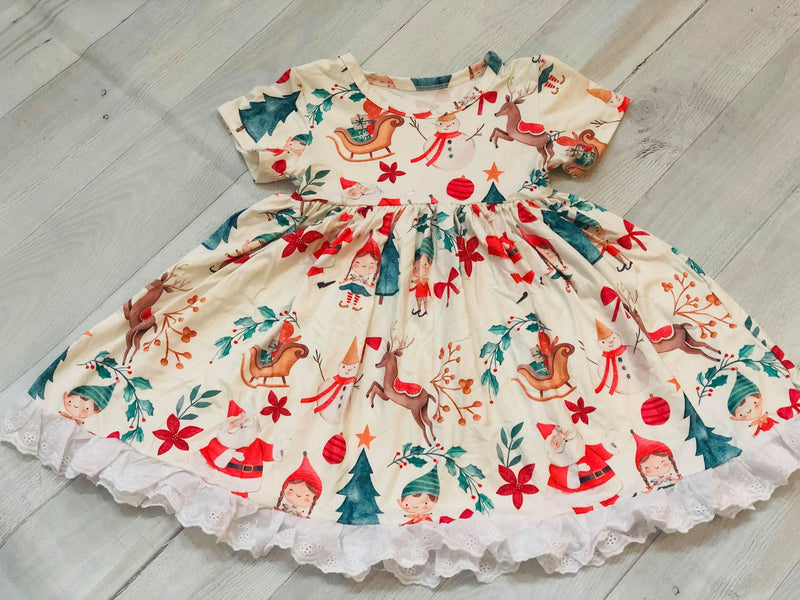 ELF & FRIENDS MILK SILK DRESS