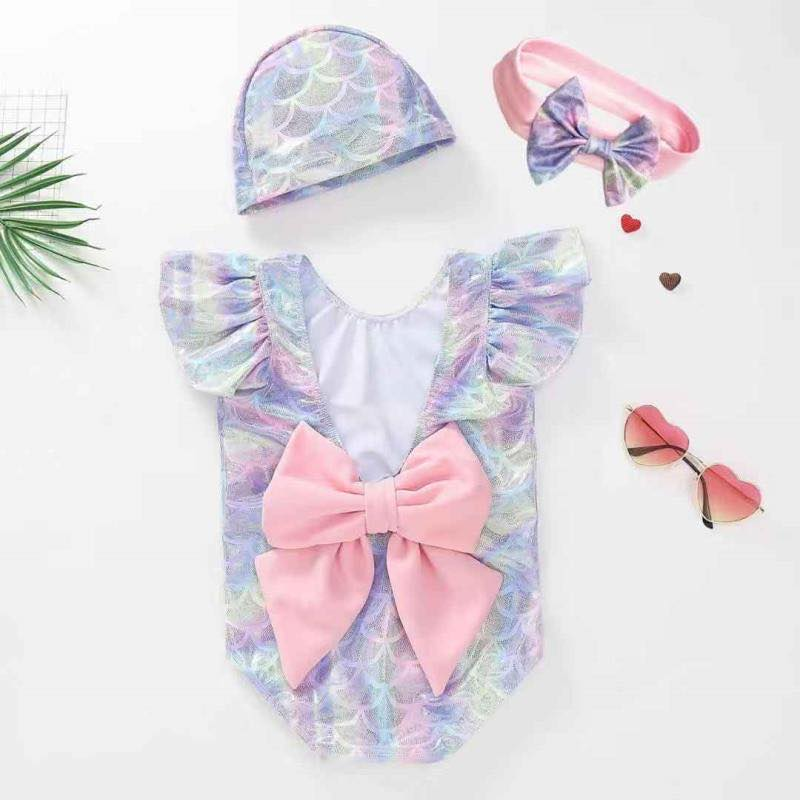 MERMAID BOW SWIMSUIT - 3 PC