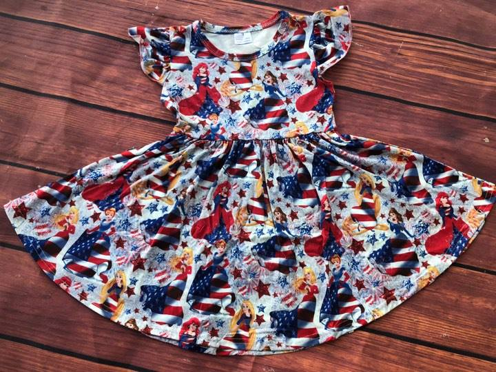 PATRIOTIC PRINCESS TWIRL DRESS