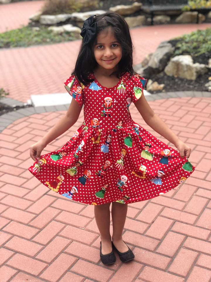 CHRISTMAS PRINCESSES TWIRL DRESS