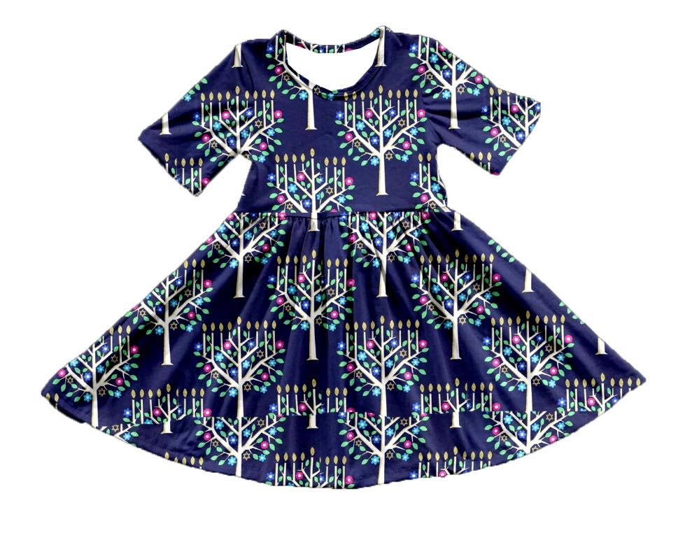 HANUKKAH TWIRL DRESS