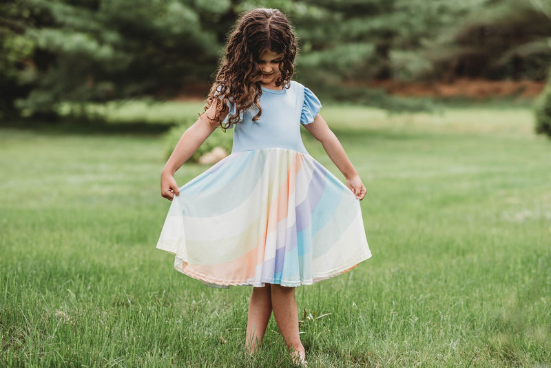 LYANNA RAINBOW TWIRL DRESS