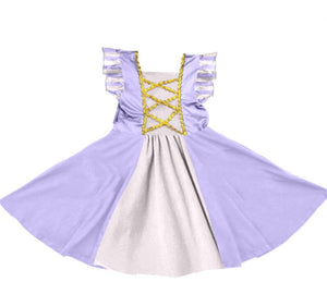 PRINCESS INSPIRED TWIRLY DRESS - PURPLE - PREORDER