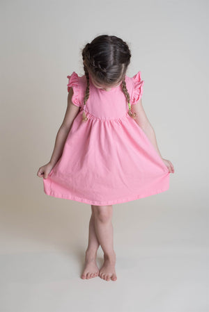 CORAL PINK PEARL DRESS