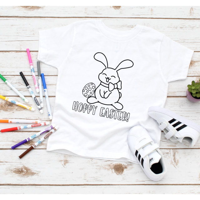 COLOR YOUR OWN TSHIRT - HOPPY EASTER PRESALE