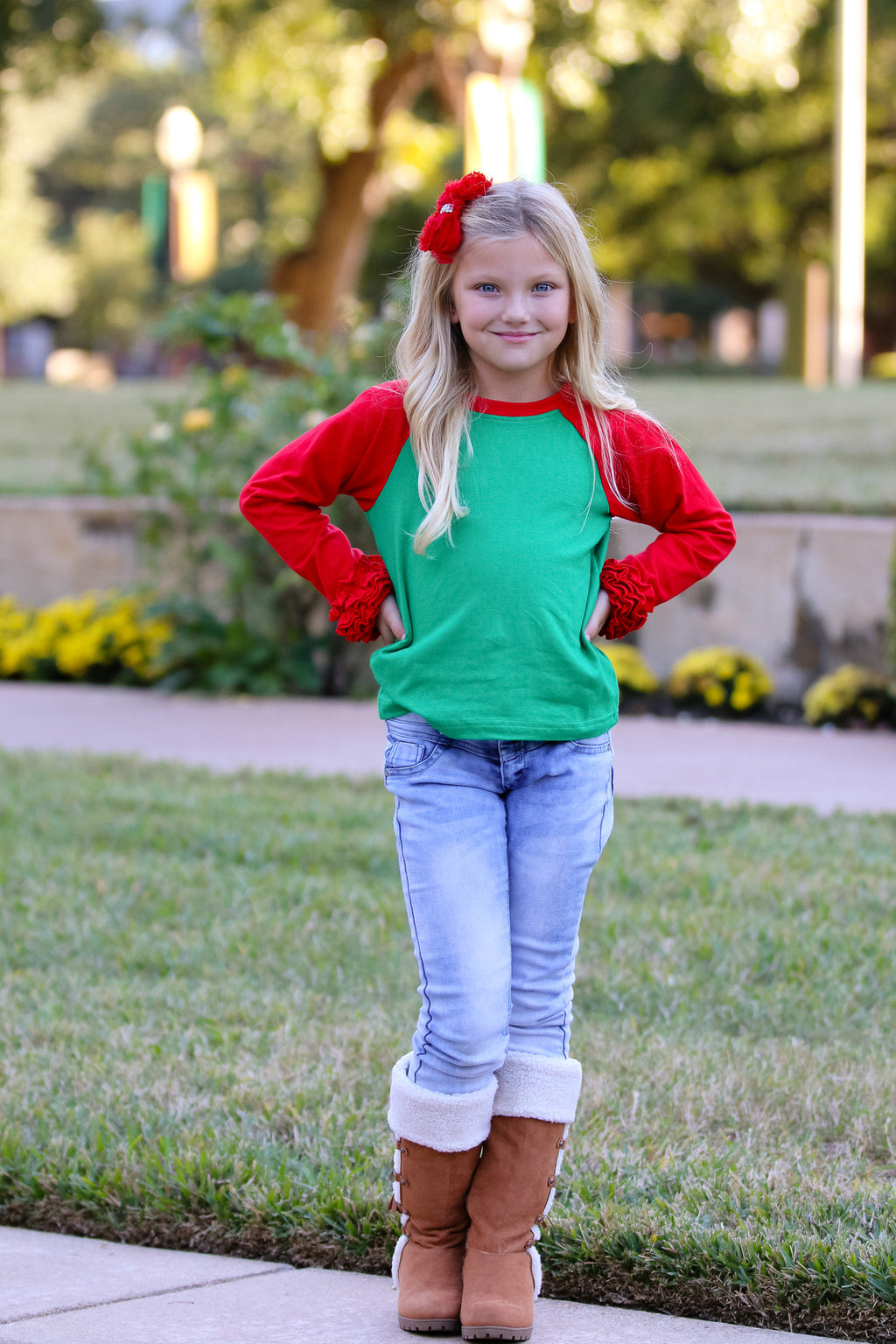 RAGLAN RED AND GREEN