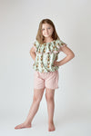 BUNNY TOP & PINK SHORTS SET