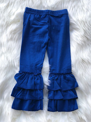 RUFFLE PANTS - ROYAL BLUE