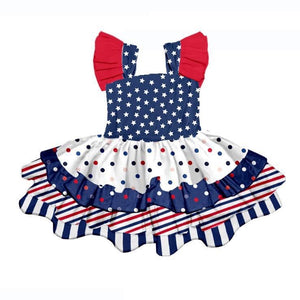 PATRIOTIC RUFFLED DRESS - PREORDER