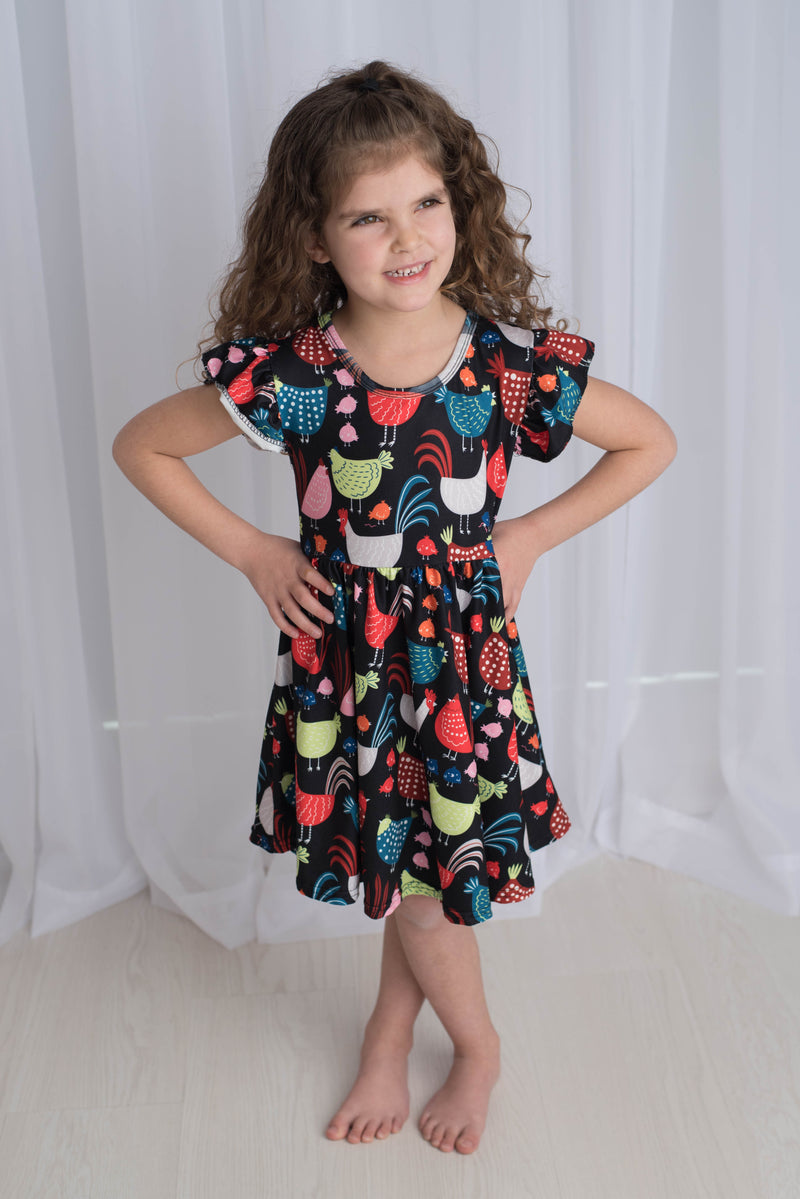 CHICKEN TWIRL DRESS