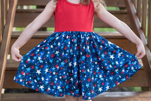 PATRIOTIC TANK BOW DRESS