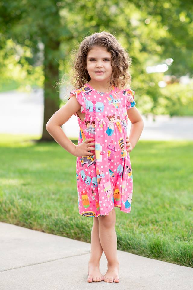 PINK BACK TO SCHOOL PEARL DRESS