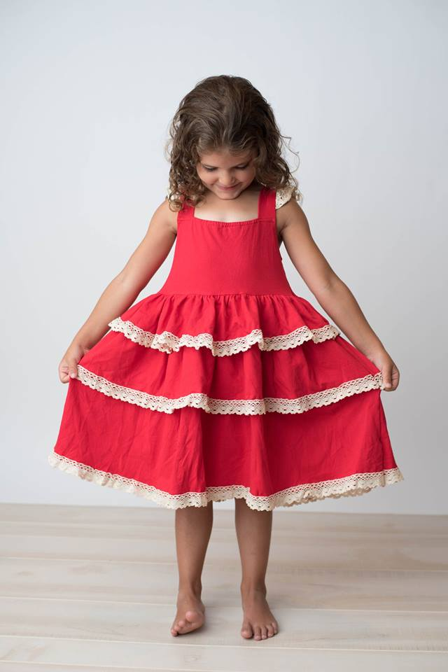 SALLY DRESS - RED