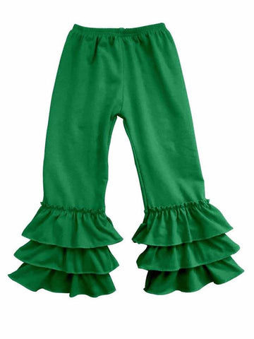 GREEN RUFFLE PANTS