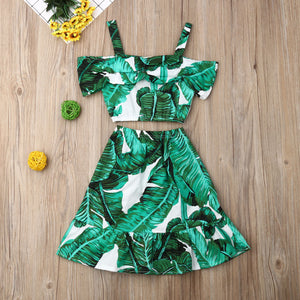 PALMS LEAVES SKIRT SET