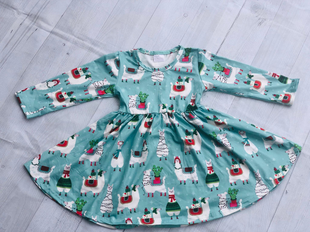 LLAMAS TWIRL DRESS
