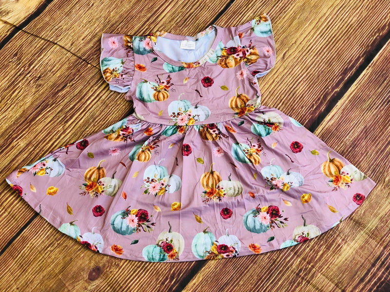 FALL PUMPKIN TWIRL DRESS