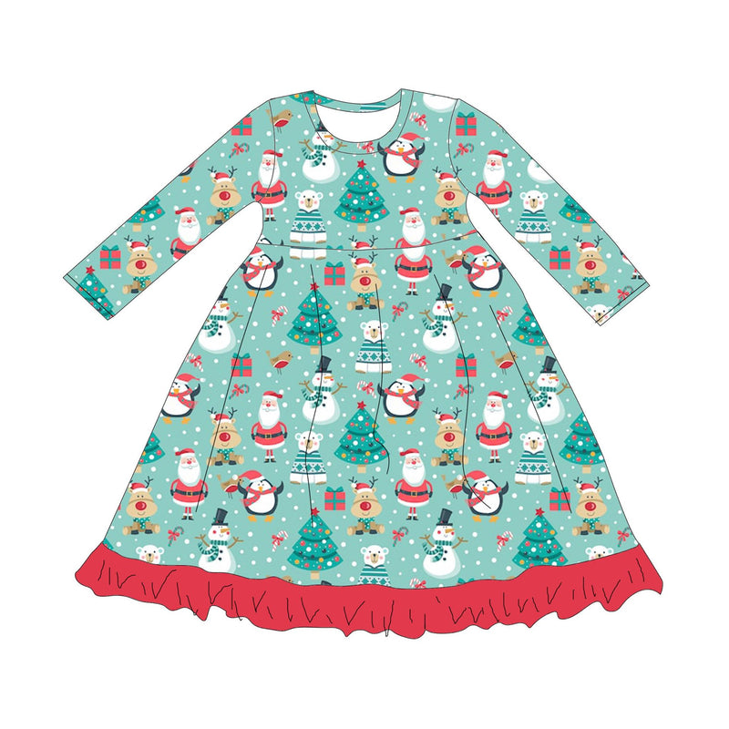 SANTA & FRIENDS LONG SLEEVES NIGHTGOWN - 2ND PREORDER