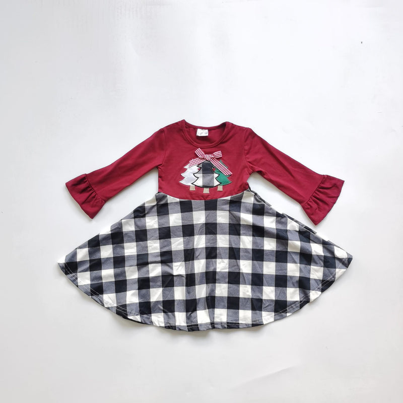 PLAID CHRISTMAS TREE DRESS - PRESALE