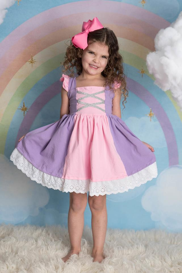 PRINCESS INSPIRED DRESS - PINK/PURPLE