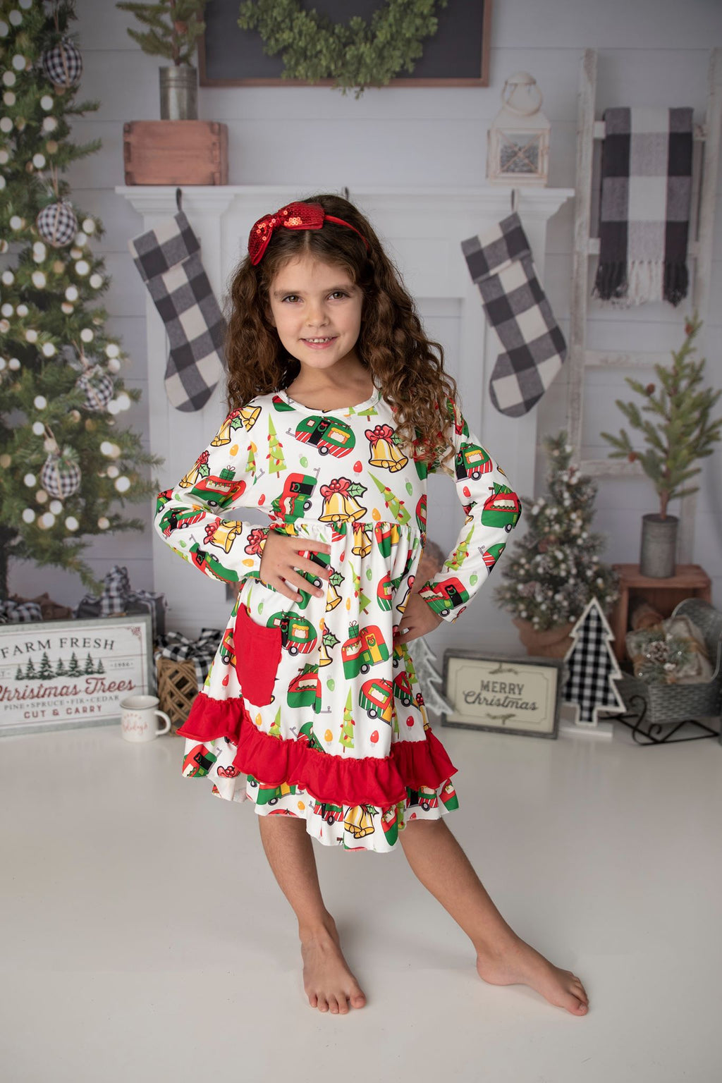 CHRISTMAS CAMPER DRESS