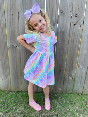 MERMAID RAINBOW TWIRL DRESS