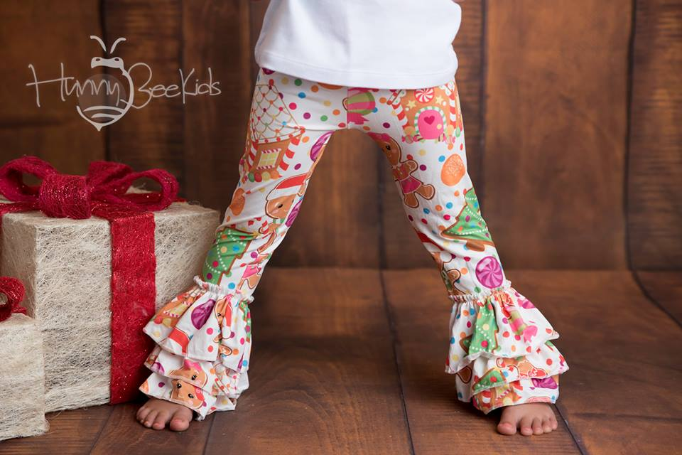 GINGERBREAD COOKIE HOUSE RUFFLE PANTS