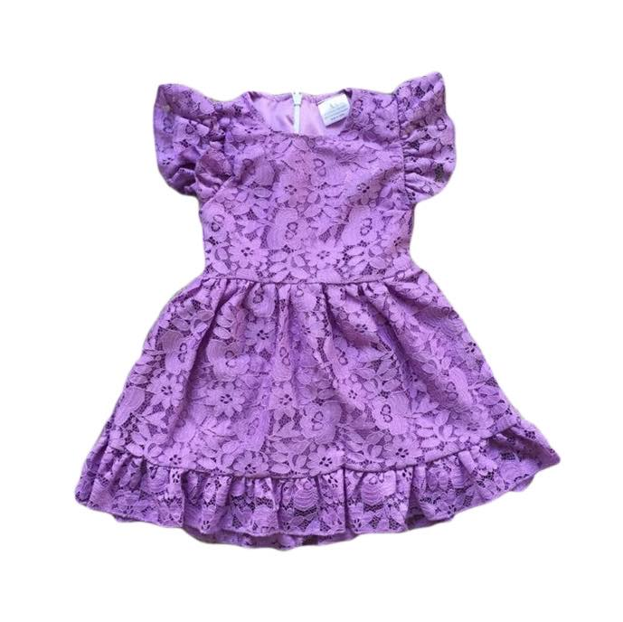 FLORAL DRESS - PURPLE