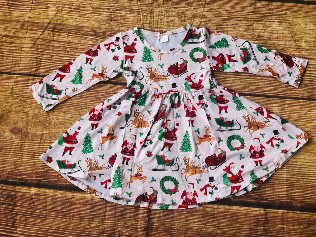 SANTA & REINDEER TWIRL DRESS