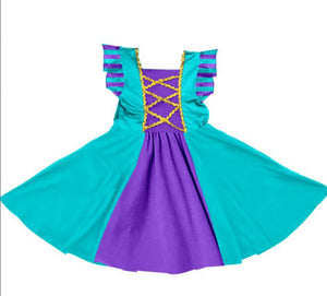PRINCESS INSPIRED TWIRLY DRESS - MERMAID- PREORDER