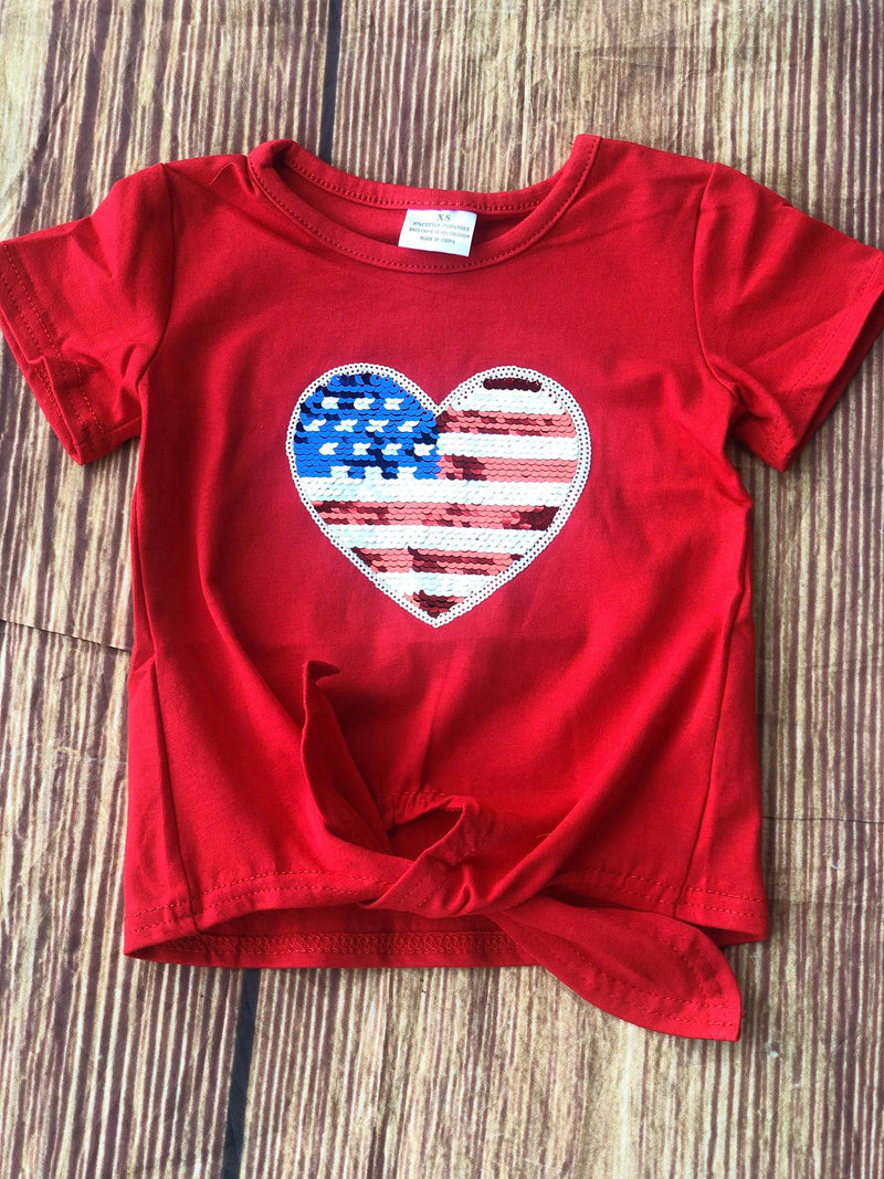 PATRIOTIC HEART TOP
