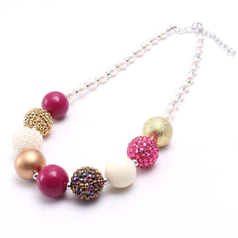 PINK & GOLD PEARLS NECKLACE
