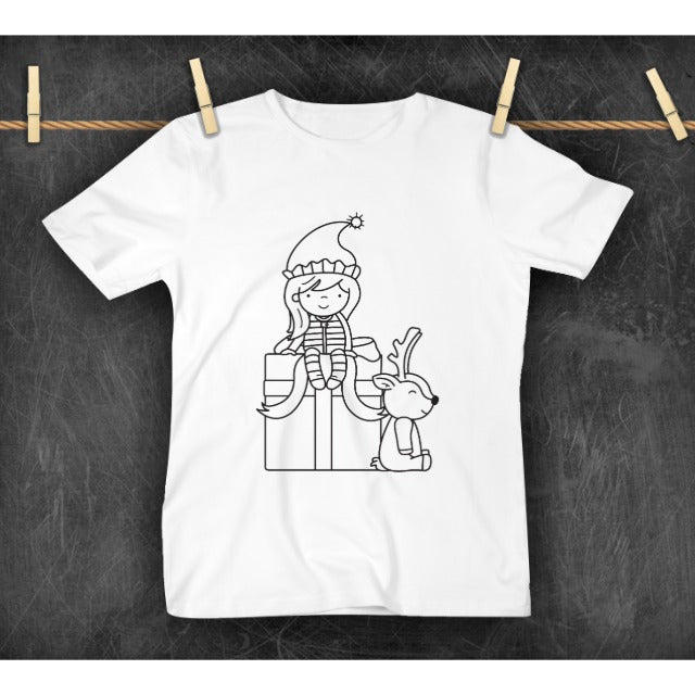 COLOR YOUR OWN TSHIRT - ELF GIRL