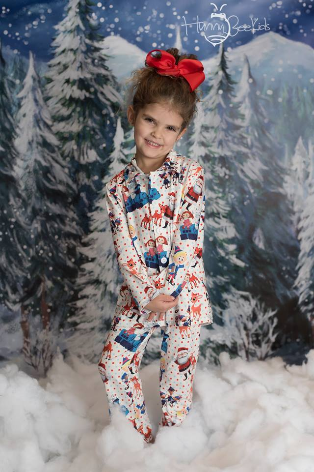SANTA'S HELPER PJS - UNISEX - MILK SILK