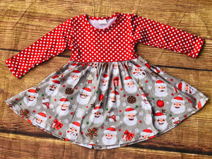 SANTA COOKIE & MILK TWIRL DRESS
