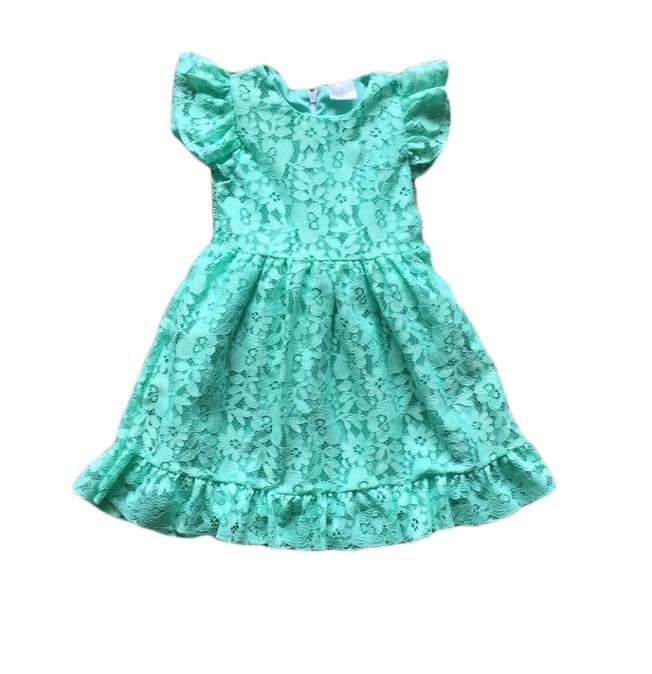 FLORAL DRESS - TURQUOISE