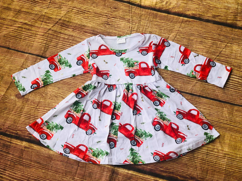 CHRISTMAS TRUCK TWIRL DRESS