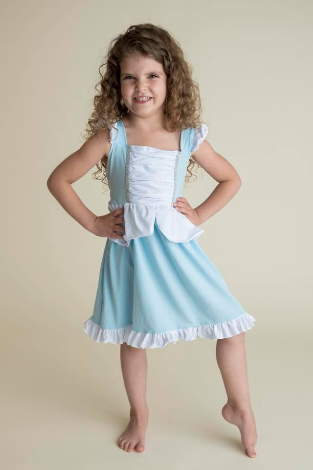 PRINCESS INSPIRED DRESS - BLUE PRE-ORDER