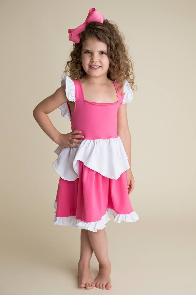 PRINCESS INSPIRED DRESS - PINK/WHITE