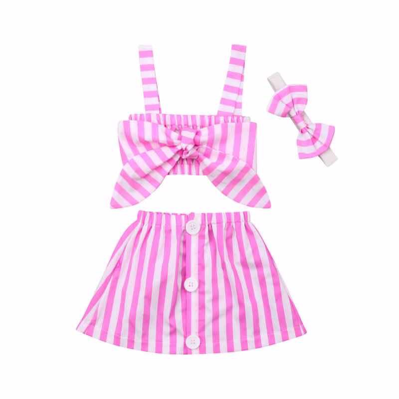 LYLA STRIPE SKIRT SET