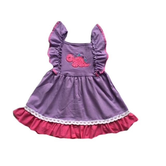 DINOSAUR PINK AND PURPLE DRESS