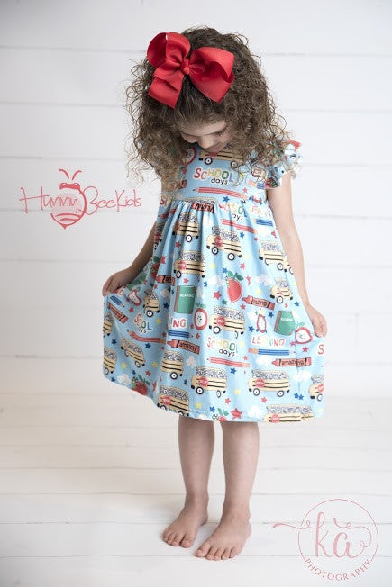 SCHOOL BUS PEARL DRESS