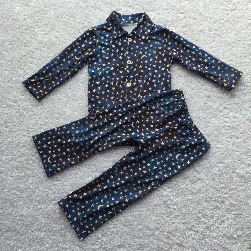 MOON & STAR PJS - BLUE/GOLD