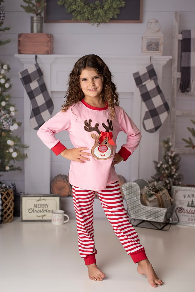 RUDOLPH PJS PINK/RED