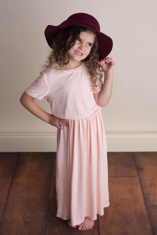 CALLIE MAXI DRESS - PEACH